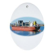 Salt water ship Emile gets a tug assist Ornament (