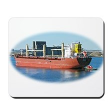 Salt water ship Emile gets a tug assist Mousepad