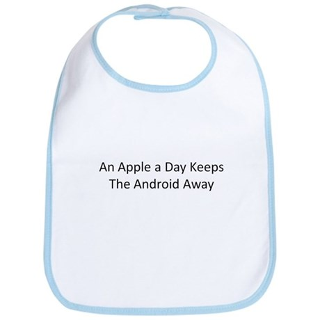 An Apple a Day Keeps the Android Away Bib