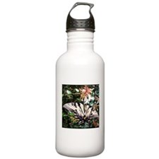 Yellow Butterfly Sports Water Bottle