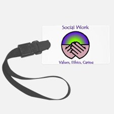 Social Work Values Luggage Tag