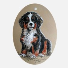 Berner Puppy Oval Ornament