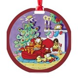 Garfield Round Ornament