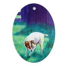 Jack Russell Oval Ornament