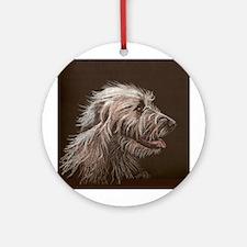 Irish Wolfhound Round Ornament