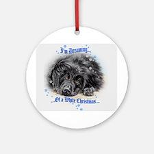 "Newfoundland ""White Christmas"" Ornament (Round)"