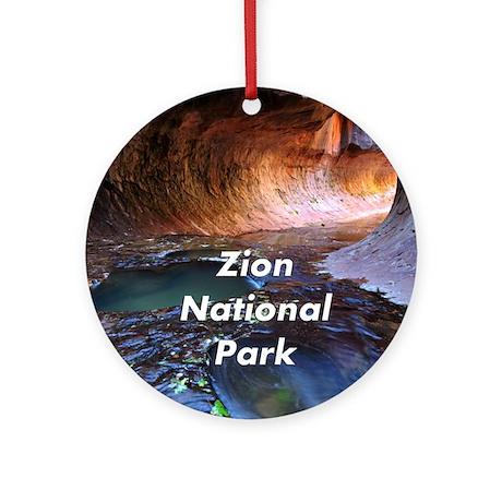 Zion National Park Ornament (Round)