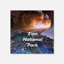 "Zion National Park Square Sticker 3"" x 3"""