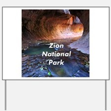 Zion National Park Yard Sign