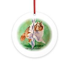 Sheltie Agility Ornament (Round)