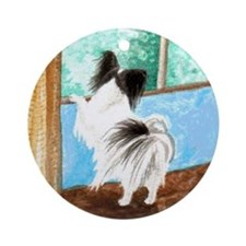 "Papillon ""Sentry"" Ornament (Round)"