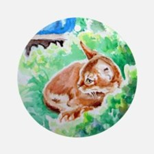 Red Abyssinian Kitten Ornament (Round)