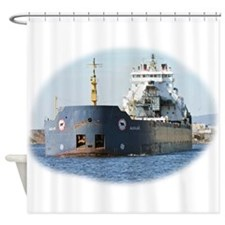 Algolake departing Duluth Shower Curtain