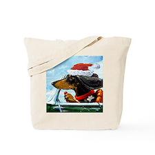 Holiday Dachshund Tote Bag