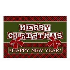 Very Plaid Christmas Postcards (Package of 8)