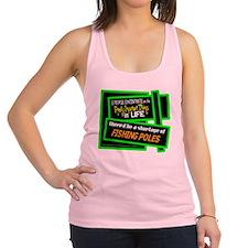 Fishing Poles-Doug Larson/t-shirt Racerback Tank T