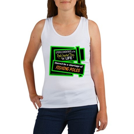 Fishing Poles-Doug Larson/t-shirt Women's Tank Top