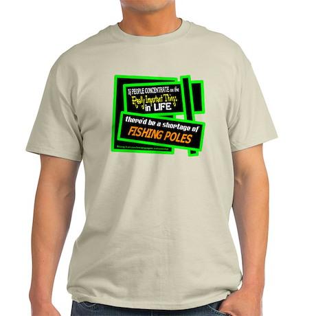 Fishing Poles-Doug Larson/t-shirt Light T-Shirt