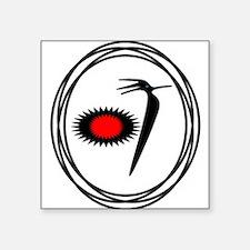 Native American RoadRunner design Square Sticker 3