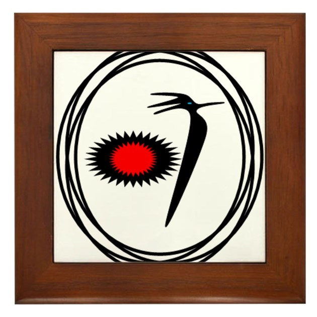 Native american roadrunner design framed tile by listing for Native american tile designs