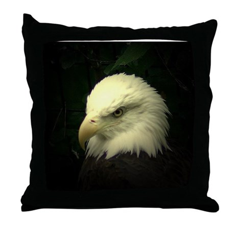 eagle with f/x Throw Pillow