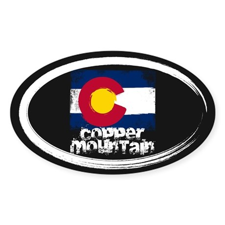 Copper Mountain Grunge Flag Sticker (Oval)
