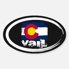 Vail Grunge Flag Decal