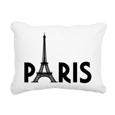 Paris Eiffel Rectangular Canvas Pillow