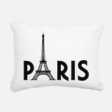 Paris Eiffel Rectangular Canvas Pillow