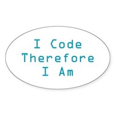 I Code Oval Decal