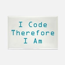 I Code Rectangle Magnet