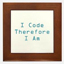 I Code Framed Tile
