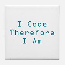I Code Tile Coaster