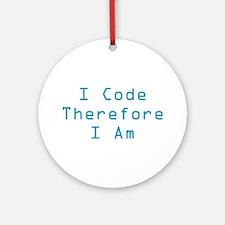 I Code Ornament (Round)