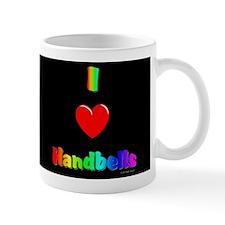 I Love Handbells Black Mug