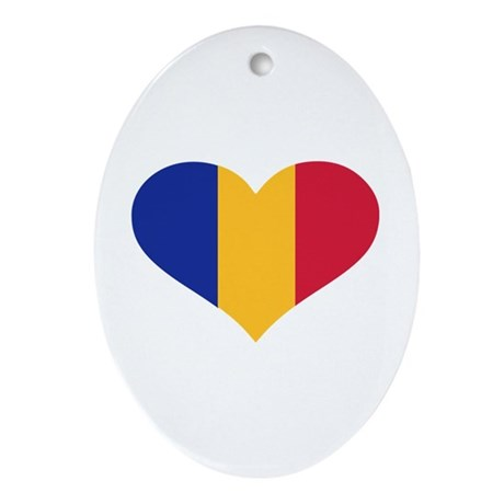 Moldova flag heart Ornament (Oval)