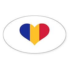 Moldova flag heart Decal