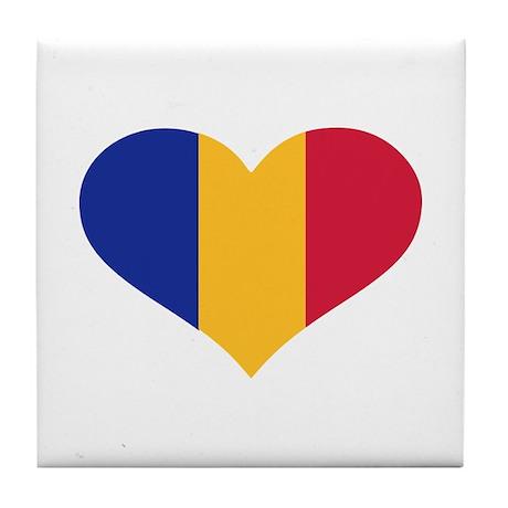 Moldova flag heart Tile Coaster