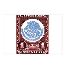 1947 Mexico Eagle & Snake Emblem Stamp Postcards (