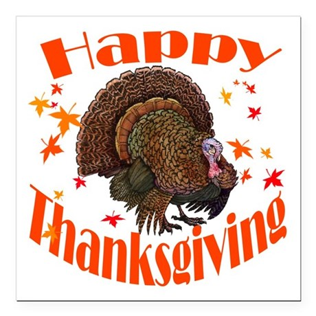"happy tg.png Square Car Magnet 3"" x 3"""