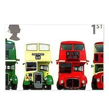 2001 Great Britain Double-decker Bus Stamp Postcar