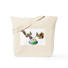 Squirrels Birthday Tote Bag