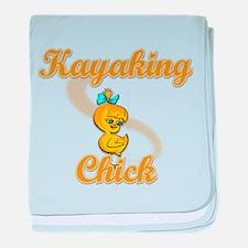 Kayaking Chick #2 baby blanket