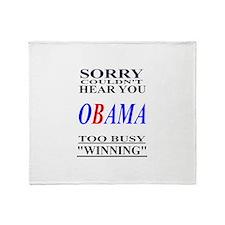 Obama Winning Throw Blanket