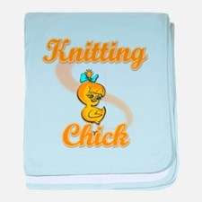 Knitting Chick #2 baby blanket