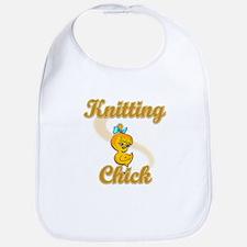 Knitting Chick #2 Bib