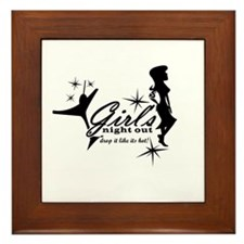 Girls Night Out! Framed Tile