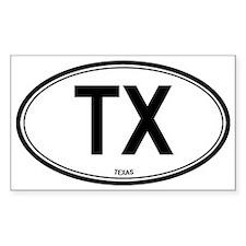 Texas (TX) euro Oval Decal