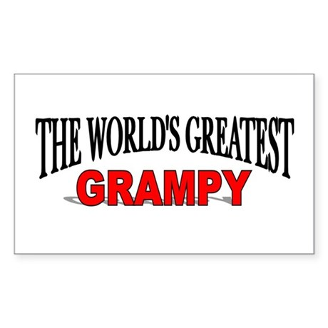 """The World's Greatest Grampy"" Sticker (Rectangular"