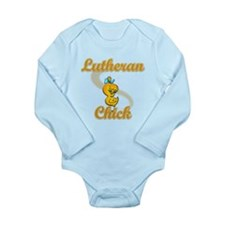 Lutheran Chick #2 Long Sleeve Infant Bodysuit